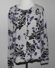 Women's Petite KAREN SCOTT Floral Cardigan Sweater Size P/XL
