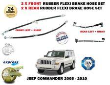 für Jeep Commander 2005- > New 2x Front + 2 x Heck Gummi Flex Bremsschlauch Satz