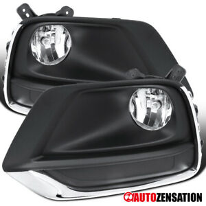 For 17-19 Chevy Trax Clear Bumper Fog Lights Driving Lamps Pair+Wiring