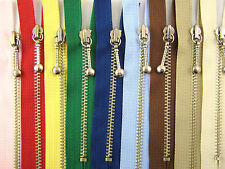 Metal Pocket or Purse Zips - Closed End with Attractive Zip Puller