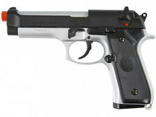 TSD UHC M92F Spring Airsoft Pistol UA958CH Silver and Black M9 Replica FPS 260