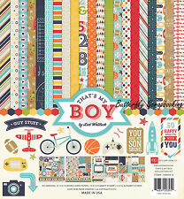 BOY That's My Boy Collection 12X12 Scrapbooking Kit Echo Park Paper Co New