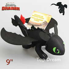 How to Train your Dragon 2 Toothless Night Fury Soft Plush Toy Doll Figure Gift