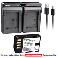 Kastar Battery Dual USB Charger for Panasonic DMW-BLF19 DMW-BLF19E DMW-BTC10E