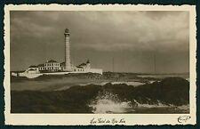 Portugal Leca da Palmeira Lighthouse original old 1940s Photo postcard