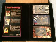 Mickey Mouse Through The Years Disney Showcase Authentic Images 24k Gold Card x3