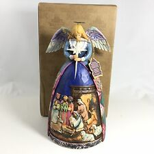 Jim Shore Heartwood Figurine Angel Nativity Gown A Star Shall Guide Us #4003273