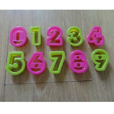 Number alphabet plastic baking biscuit cookie cutter mold set