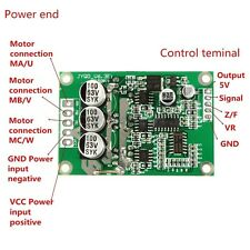 DC 12V 24V 36V 500W Brushless Motor Controller Hall Motor Balanced Driver Board