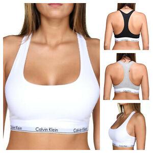 Calvin Klein Women's Modern Sport TWIN PACK BRAS Underwear Stretch Cotton
