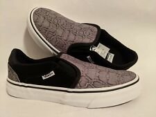 Vans New Asher Deluxe Snake Black Lady Shoes Size USA 7