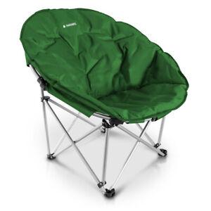Faltsessel Moon Chair rund Camping Stuhl Outdoor Klappstuhl Campingstuhl Navaris