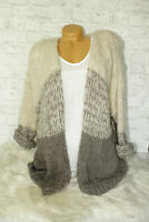 Italy Strickjacke Gr. 36 38 40 42 Strick Long Cardigan Jacke blogger Oversized