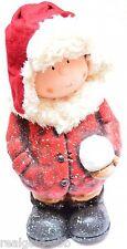 Figur Junge Weihnachten Dekofigur Winterkinder Winterdeko Weihnachtsdeko Junge B