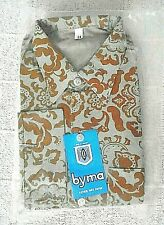 Vintage Floral Shirt Age 14 Years  -  Orange - 100% Cotton - New