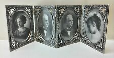 Large Vintage Pewter Frame/ Old Fashion Frames/ Set of 4