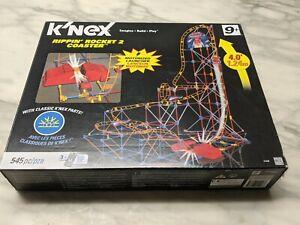 K'nex Rippin' Rocket 2 Coaster Set Motorized Launcher 545 pc.