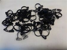"""SNAPPERS 4128 918 BLACK PLASTIC HOSE CLAMPS 1"""" LOT OF ( 50 ) MARINE BOAT"""