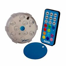 Waterproof Magnetic 4 Mode LED Color Changing Pool Wall Light w/ Remote Control