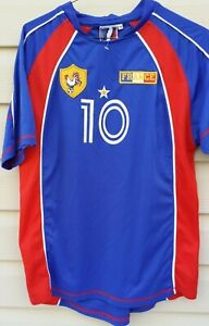 France Soccer Football Futbol Jersey Zinedine Zidane # 10 Blue Red Size M