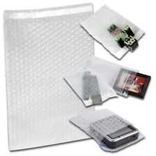 More details for bubble wrap bags pouches clear plain self seal all sizes peal and seal