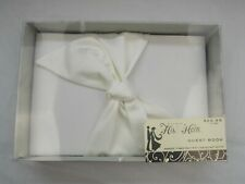 His & Hers Studio - White Bow Wedding Guest Book
