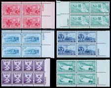 United States Plate Blocks Scott 1004 // 1016 (1952) Mint NH VF, CV $13.20 W