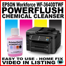 Printhead Cleaner & Nozzle Unblocker for: EPSON Workforce WF-3640DTWF / 3620DWF