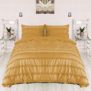 Egyptian Cotton 800TC Horizontal Ruffle Duvet Cover Set All Size & Color