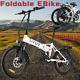 20'' Electric Bikes Mountain BikeE-Bike Folding E-City Bike Bicycle 350W 25km/h