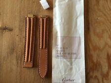 New - Leather Strap CARTIER Correa de Piel - Modelo 21 must - Brown Marrón Nuevo