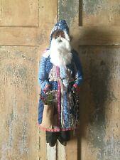 New listing Folk Art Christmas Santa Claus- Patchwork Quilt Coat