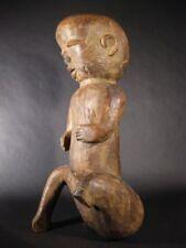 Wooden Post - 1940 Ethnographic Antique Carved Figures
