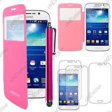 Housse Coque Etui  Flip Cover Rose Samsung Galaxy Grand 2 + Stylet + 3 Films