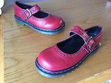 VintageDr Martens red vintage leather England Mary Jane shoes UK 3 EU 36 Indica