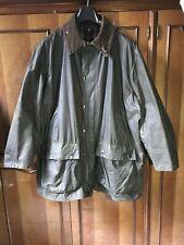 Barbour Border Jacket A 200 C46/117 CM, verde oliva, giacca cerata da uomo