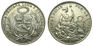 Peru - 1 Sol 1934 - Silver