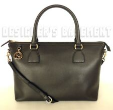 GUCCI black leather gold GG CHARM convertible LARGE TOTE cross-body bag NWT Auth