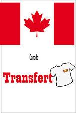 3 Transferts textile clair 25x40mm drapeau Canada