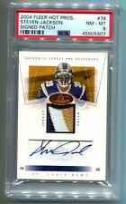 2004 Fleer Hot Prospects Steven Jackson RC Patch Auto 200/300 PSA 9 (CBF)