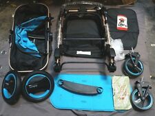 Luxury Baby stroller Foldable Anti-shock High View Carriage - Blue (B350)