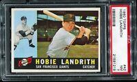 1960 Topps Baseball #42 HOBIE LANDRITH San Francisco Giants RC ROOKIE PSA 7 NM
