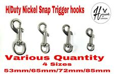 HEAVY DUTY ROUND SWIVEL TRIGGER SNAP HOOKS 53/65/72/85MM LEATHER HORSE DOG LEAD