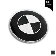 Carbon Schwarz Emblem Aufkleber Ecken für alle BMW Autos 1er 3er 8er 45 Ecken
