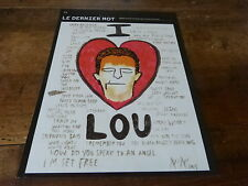 LOU REED - Mini poster couleurs 2  !!!