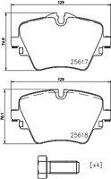 Mintex Front Brake Pad Set MDB3757  - BRAND NEW - GENUINE - 5 YEAR WARRANTY