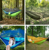 Portable Mosquito Net With Hammock Hanging Bed for Travel Camping Double Person