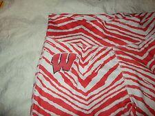 Zubaz Ncaa Wisconsin Badgers Women's Team Color Tiger Print Leggings Pants Xl