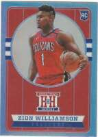 ZION WILLIAMSON RC 2019-20 Chronicles Hometown Heroes Silver #552 ROOKIE ID:5718