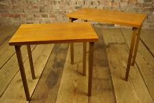 60er 2x Nussbaum Satztische Nesting Tables Tisch Beistelltisch Opal Mid-Century